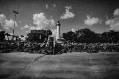 St Simmon's Lighthouse 2 Art Print by J Riley Johnson