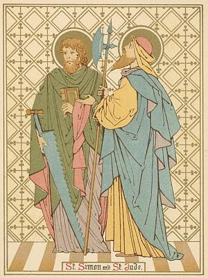 Christianity Drawing - St Simon And St Jude by English School
