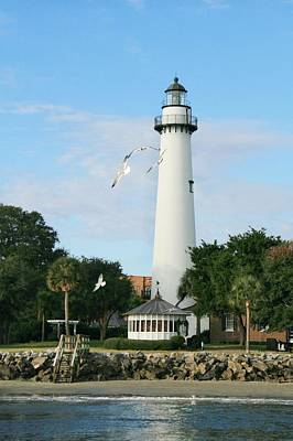 Photograph - St. Simons Island Light by Mary Hershberger