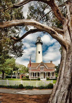 Photograph - St. Simons Island Lighthouse  by Brent Craft