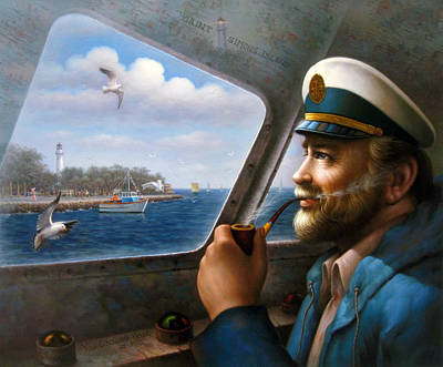 Painting - St. Simons Island Sea Captain 4 by Yoo Choong Yeul