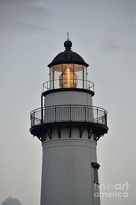 Photograph - Saint Simons Lighthouse Lens by Bob Sample