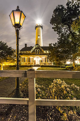St. Simons Lighthouse Art Print by Debra and Dave Vanderlaan