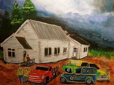 Bubbies Pickles Painting - St. Sophie Memories by Michael Litvack