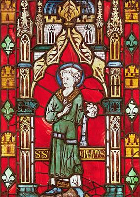 Saint Stephen Art Print by English School