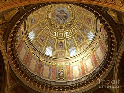 Church Photograph - St. Stephen's Dome by Deborah Smolinske