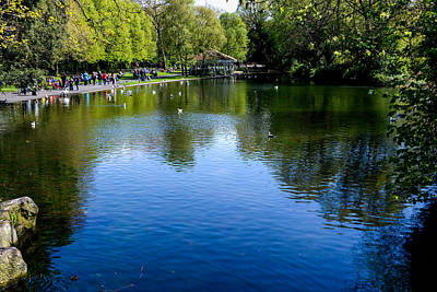 Photograph - St Stephens Green Park In Dublin Ireland by Marilyn Burton