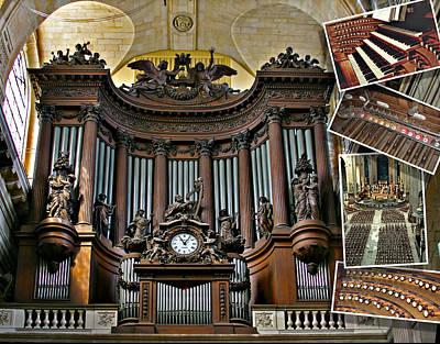 Photograph - St Sulpice Organ by Jenny Setchell