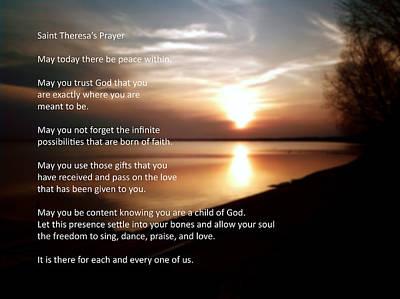 St. Theresa's Prayer Art Print by Ric Potvin
