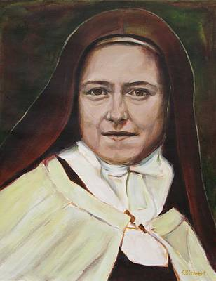St. Therese Of Lisieux Original by Sheila Diemert