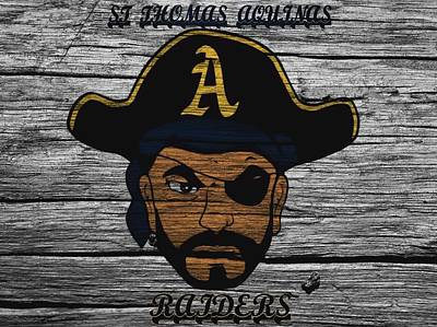 Athletic Mixed Media - St Thomas Aquinas Raiders Barn Door by Dan Sproul