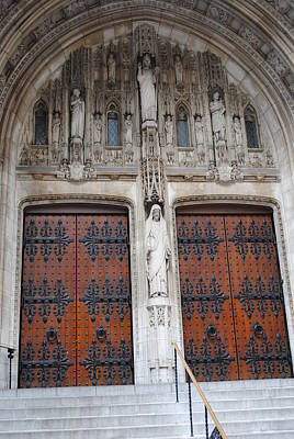 Photograph - St Thomas Church Doors by Robert  Moss