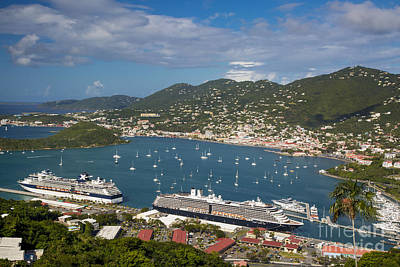 St Thomas Harbor Print by Brian Jannsen