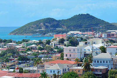 Photograph - St Thomas Harbor by Songquan Deng
