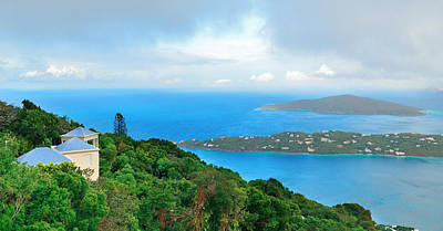 Photograph - St Thomas Panorama Mountain View by Songquan Deng