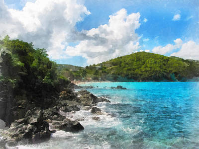 Photograph - St. Thomas Shoreline by Susan Savad