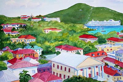 St. Thomas View Art Print by Teri  Jones