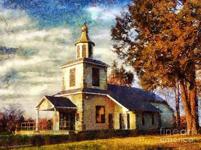 Photograph - Church On A Sunday Afternoon by Janine Riley