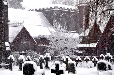 Winter Photograph - St Timothys In The Snow by Bill Cannon