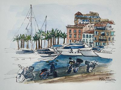 St Tropez Art Print by Helen J Pearson