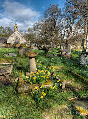 Tulips Digital Art - St Tysilio Graveyard by Adrian Evans