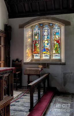 St Tysilio Window  Print by Adrian Evans