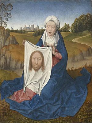 Jesus Photograph - St. Veronica, C.1470-1475 Oil On Panel by Hans Memling