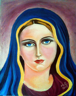 Fatima Painting - St. Virgin Mary by Dr Hala Georgy