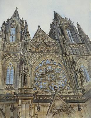 Czech Republic Painting - St. Vitus Cathedral by Henrieta Maneva