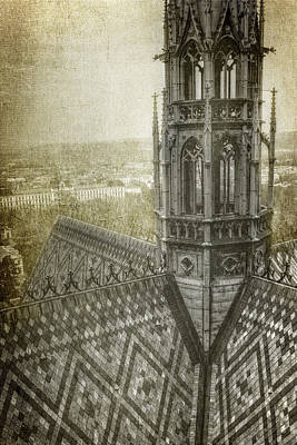 Prague Photograph - St Vitus Cathedral South Tower View by Joan Carroll