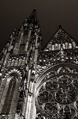 Photograph - St. Vitus Facade by Michael Kirk