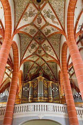 Photograph - St Wendel Basilica Organ by Jenny Setchell