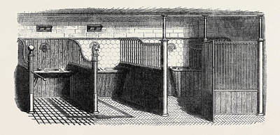 Loose Style Drawing - Stable Fittings, Open Stall With Patent Sliding Barrier by Messrs. Musgrave Brothers Of Belfast