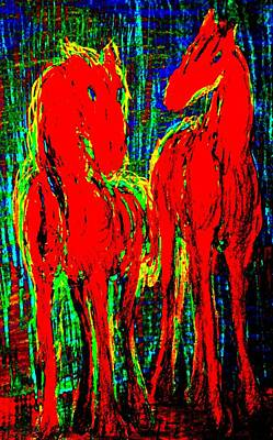 Horse Lovers Drawing - We Had The Most Stable Friendship But Now We Don't Care Anymore  by Hilde Widerberg