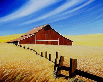Bigsky Painting - Stable Near St. Johns by Leonard Heid