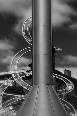 Photograph - Stack And Spiral In Black And White by Nadalyn Larsen