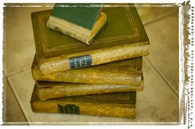Stack Of Antique Books Print by Don Hammond