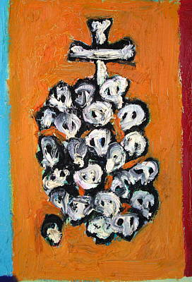 Stack Of Skulls-23- And Bones Art Print