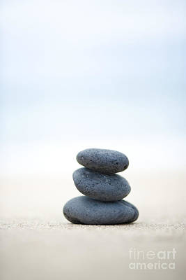 Photograph - Stack Of Stones On Sand by M Swiet Productions