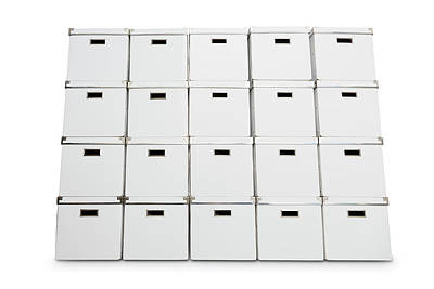 Stack Of Storage Boxes Print by Wladimir Bulgar