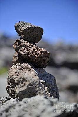 Photograph - Stack Of Volcanic Stones by Sami Sarkis