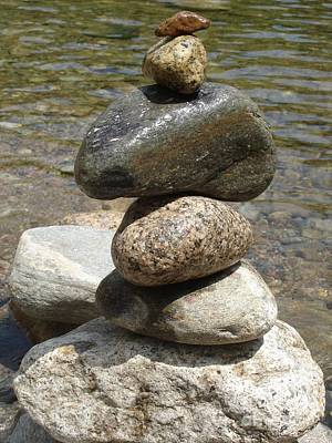 Photograph - Stacked Eddy Rocks by Kerri Mortenson