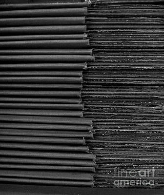 Photograph - Stacked Euphemistic- Cardboard 1 by Fei A
