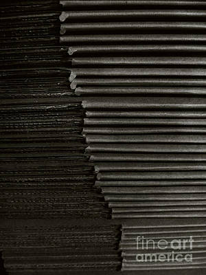 Photograph - Stacked Euphemistic-cardboard 5 by Fei A