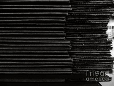Photograph - Stacked Euphemistic-cardboard 8 by Fei A