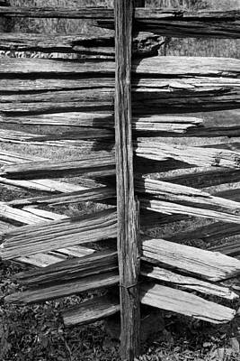 Stacked Fence Art Print by Lynn Palmer