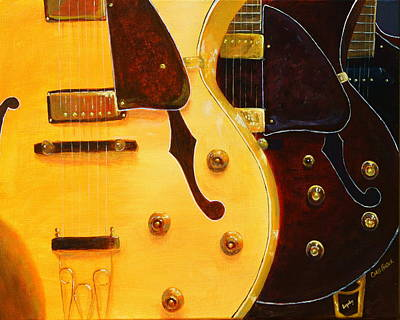 Painting - Stacked Guitars by Chris Fraser