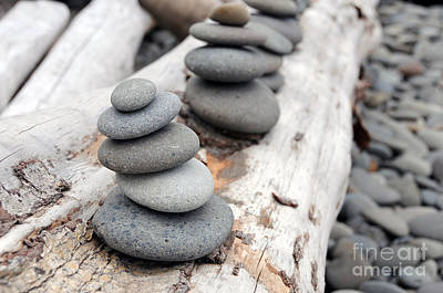 Photograph - Stacked Rocks by Sarah Schroder