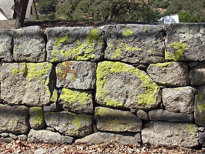 Photograph - Stacked Stone Wall by Bonnie Muir