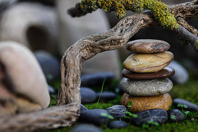 Stacked Stones A2 Print by Marco Oliveira